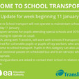 Home to School Transport during Remote Learning