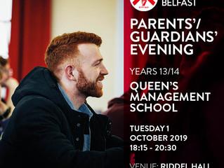 Year 13/14 Queen's Management School Undergraduate Info Evening