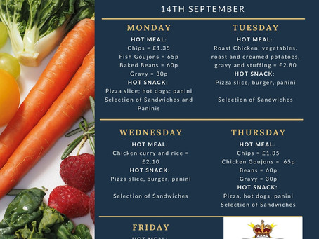 Week Commencing 14th September