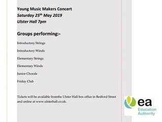 EA-City of Belfast Young Music Makers Summer Concert 2019 - 25th May