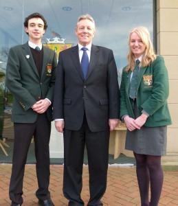Peter Robinson Visits Politics Society