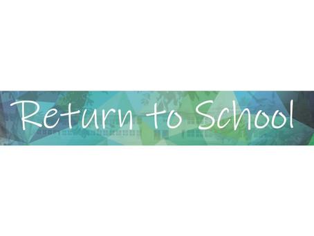 Return to School – September 2021