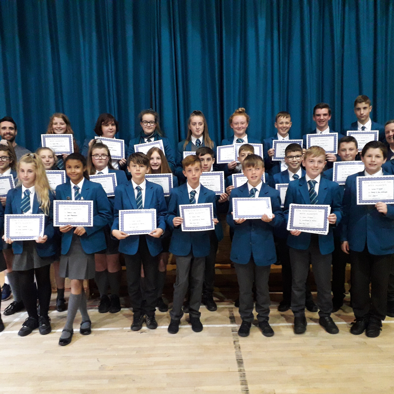KS3 Sports Prizes - students pictured wi