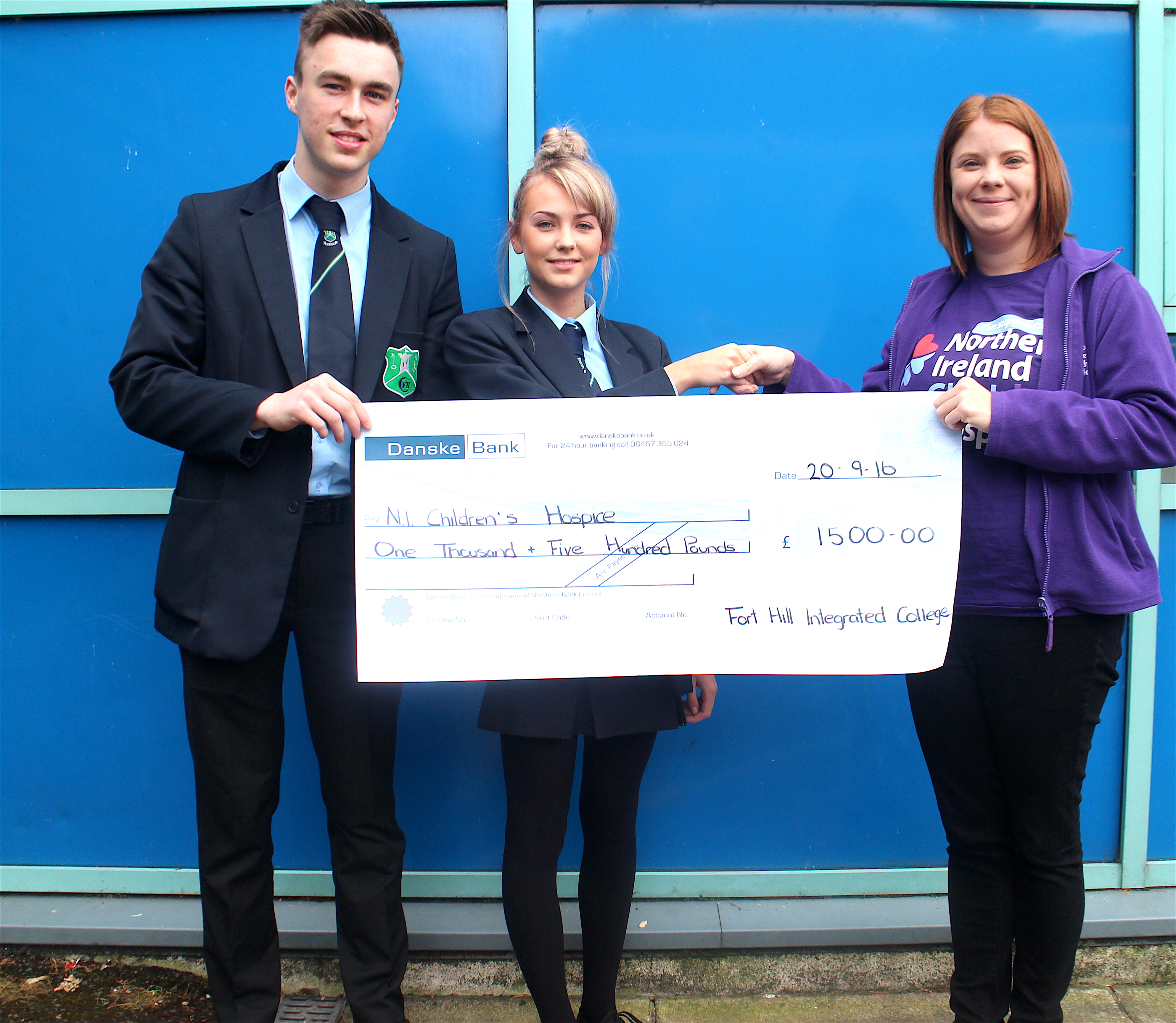student voice childrens hospice cheque