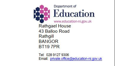 Latest News from the Minister of Education