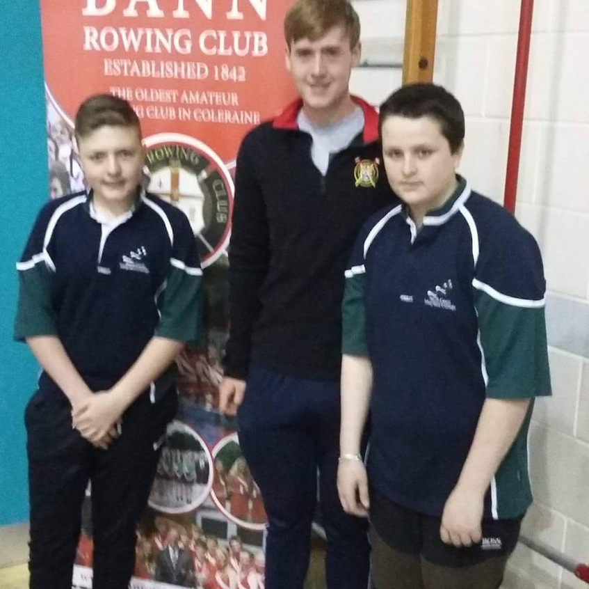 Scott and Andrew at Bann Rowing club sta