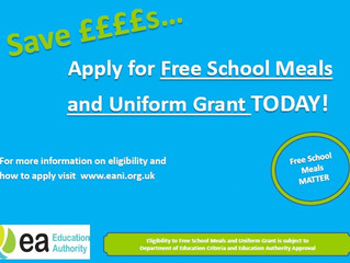 Apply for Free School Meals and Uniform Grant