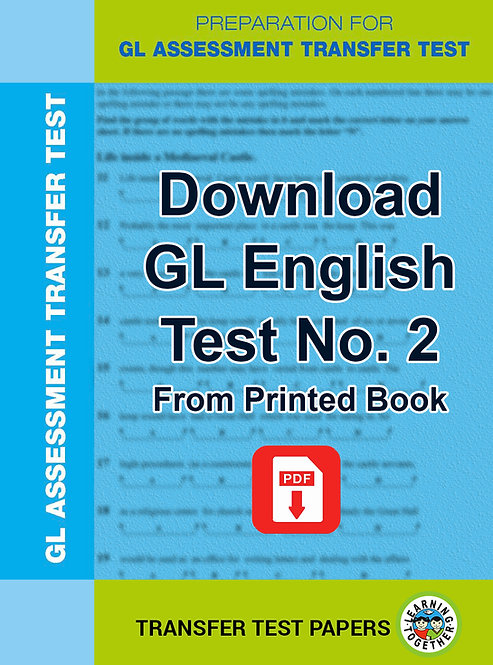 Download GL English Transfer Test no 2 for immediate use