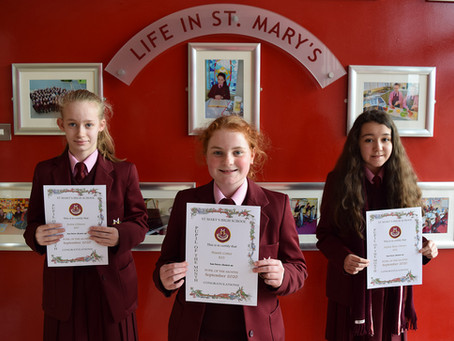 Year 8 Pupil of the Month Winners