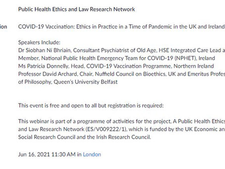COVID-19 Vaccinations in the UK and Ireland: Ethics in practice