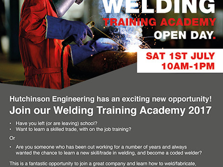 Welding Training Academy and Open Day
