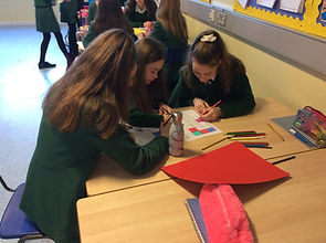 Pupils working in groups to solve problems
