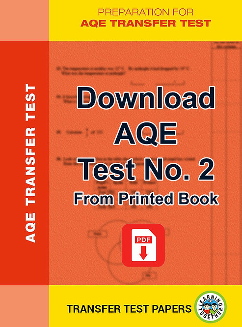 Download AQE Transfer Test no 2 for immediate use