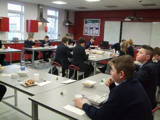 St Colm's host tasty lunch for Fort Hill pupils