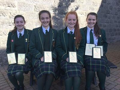 1st, 2nd, 3rd place in GCSE Gaeilge in N