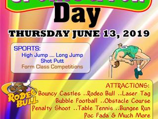 Sports & Fun Day - Thursday 13th June