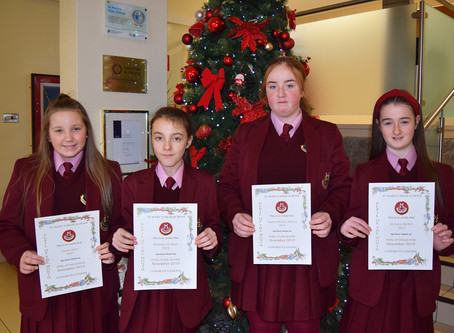 Year 8 Pupil of the Month Winners for November