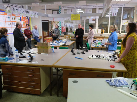 Fr Moore, Deacon Paul Mallon, Dean Donaghy and Archbishop Eamon Martin Visit the School
