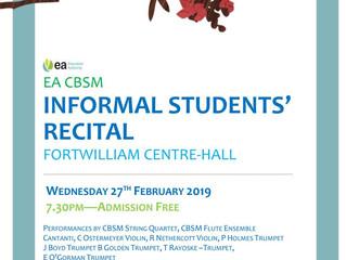 INFORMAL STUDENTS' RECITAL