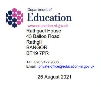 Parents/Carers: From the Office of the Minister