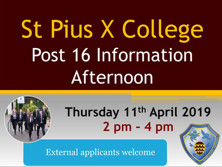 Post 16 Information Afternoon