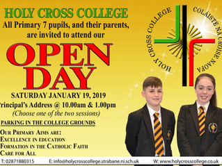 Open Day - Saturday 19th January