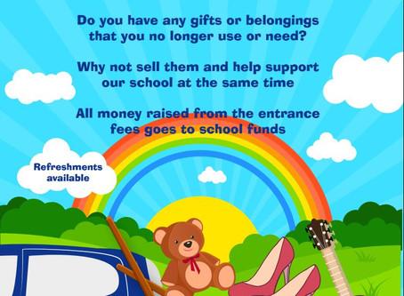 Sat 9th June Car Boot Sale at Longstone School