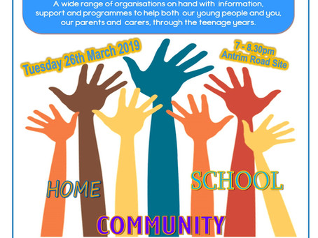 Supporting Our Teens - March 26th - 7.00-8.30pm