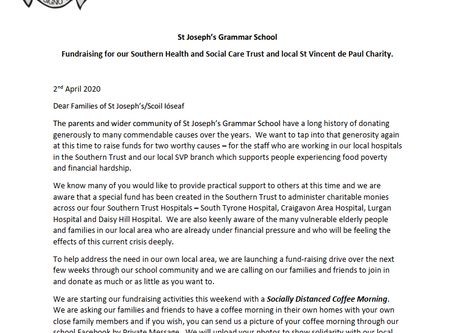 Letter to Parents RE Fundraising - 2 April
