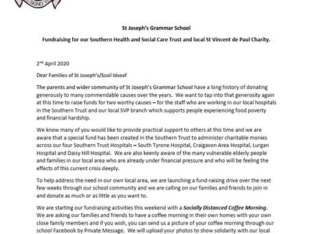 Letter to Parents RE Fundraising - 2 April