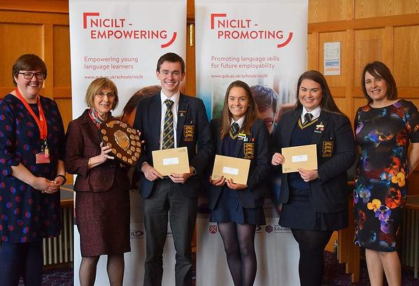 Winners of the NICILT A Level Fr & Sp De