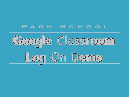 Google Classroom Log On Demo