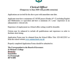 Clerical Officer Job Vacancy