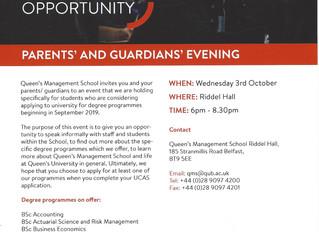 Queen's University Parents' & Guardians' Evening