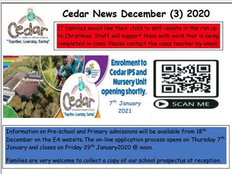 Cedar News - December (3) 2020
