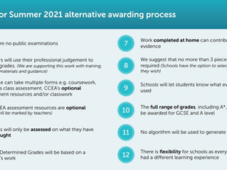CCEA Alternative Awarding Arrangements – Summer 2021