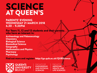 Science at Queen's - Parents' Evening