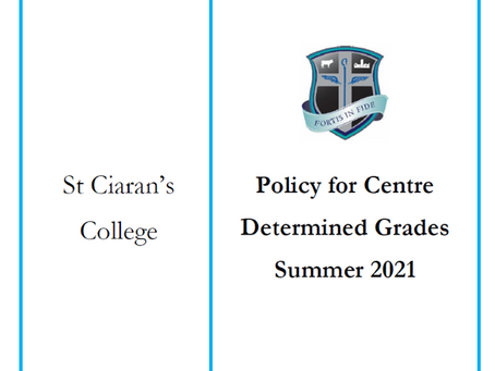 Centre Determined Grades Policy 2021