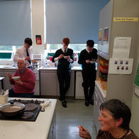 Mrs McManus providing a cookery demonstration for Year 13 boys and Armagh Menshed. It was absolutely delicious.