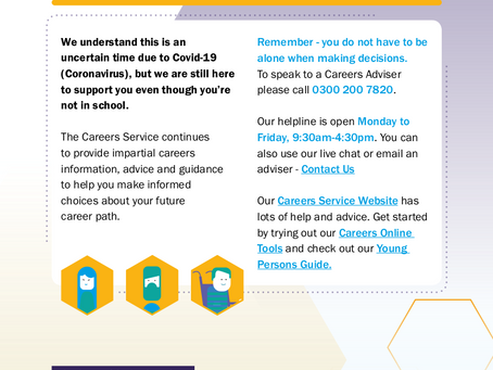 Careers Support for All Years 12 13 & 14