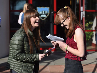 High achievers at Markethill High School celebrate as over 90% get five or more GCSEs