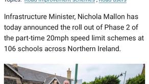 School Speed Limit Announcement