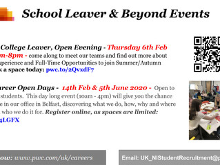 PWC School Leaver & Beyond Events