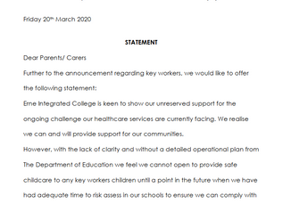 Statement - Key Workers
