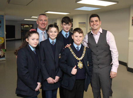 St Colm's High School Welcomes the Lord Mayor of Belfast