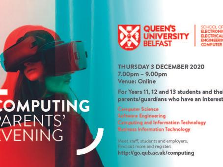 Computing Parents' Evening @ Queen's