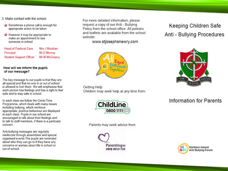 Anti-bullying and Child Protection information