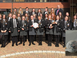 More silverware for the school as the Choir brings home two fine trophies from the Portadown Music F