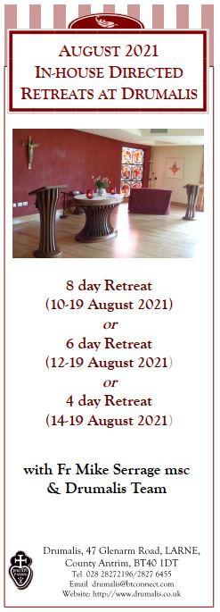 August Directed Retreats