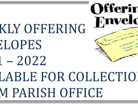 Weekly Offering Envelopes